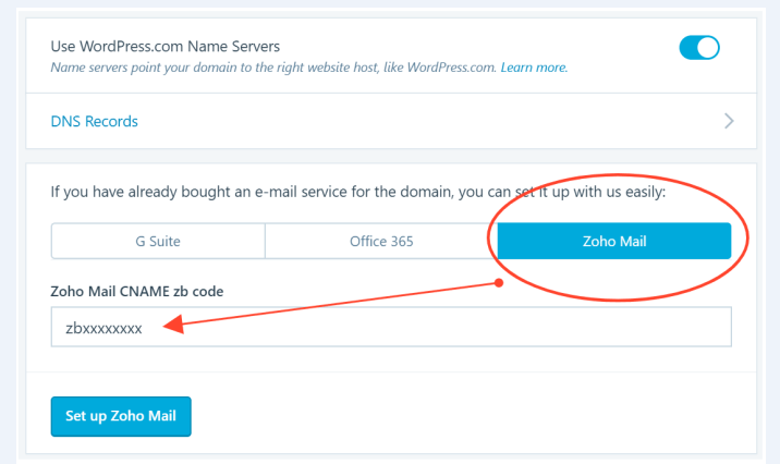 how to add an email through Zoho mail