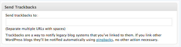 How to send a Trackback on WordPress