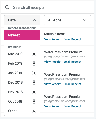 view and track your billing history