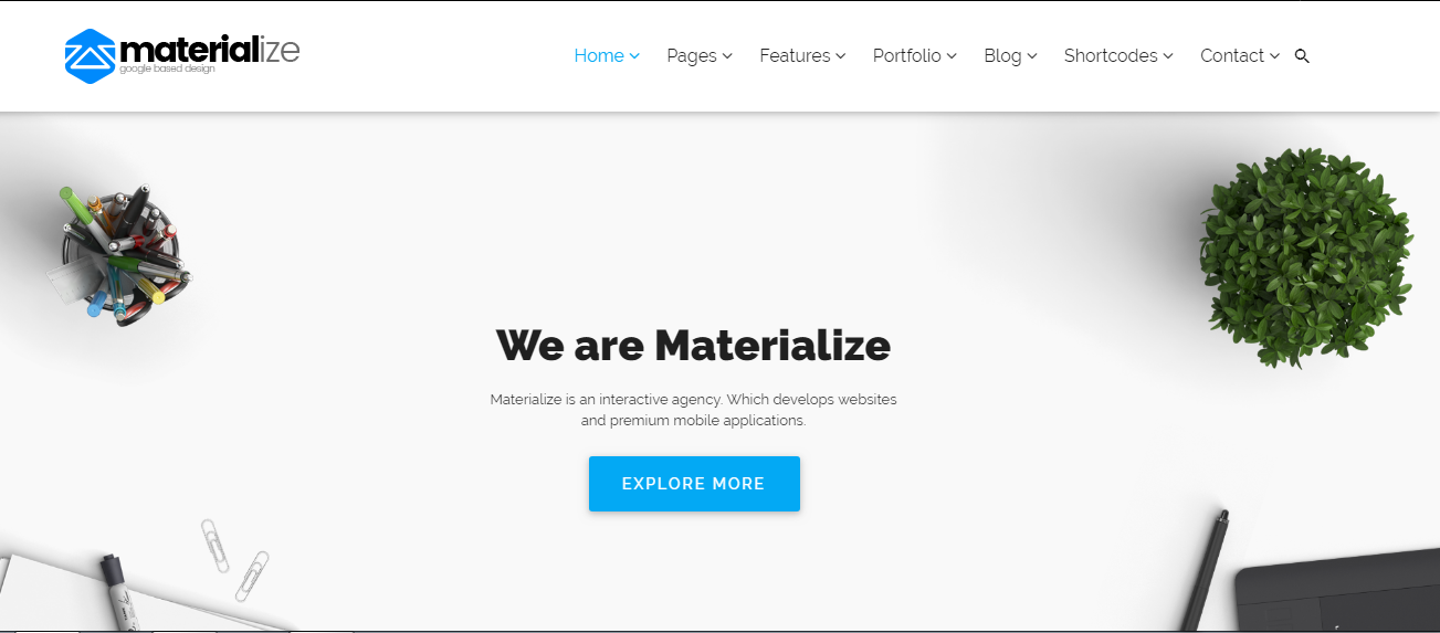 Materialize theme