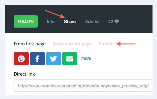 how to embed Issuu on your site