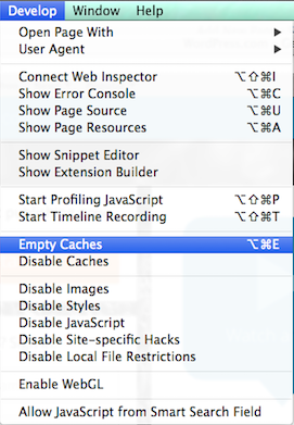 how to clean your cache in safari