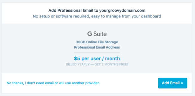 add G Suite to your site