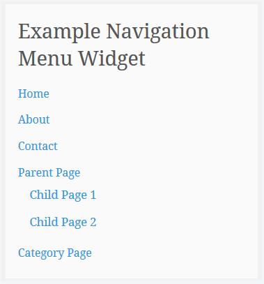 Add Navigation Menu widget