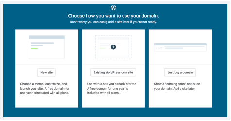 register a domain without generating a site