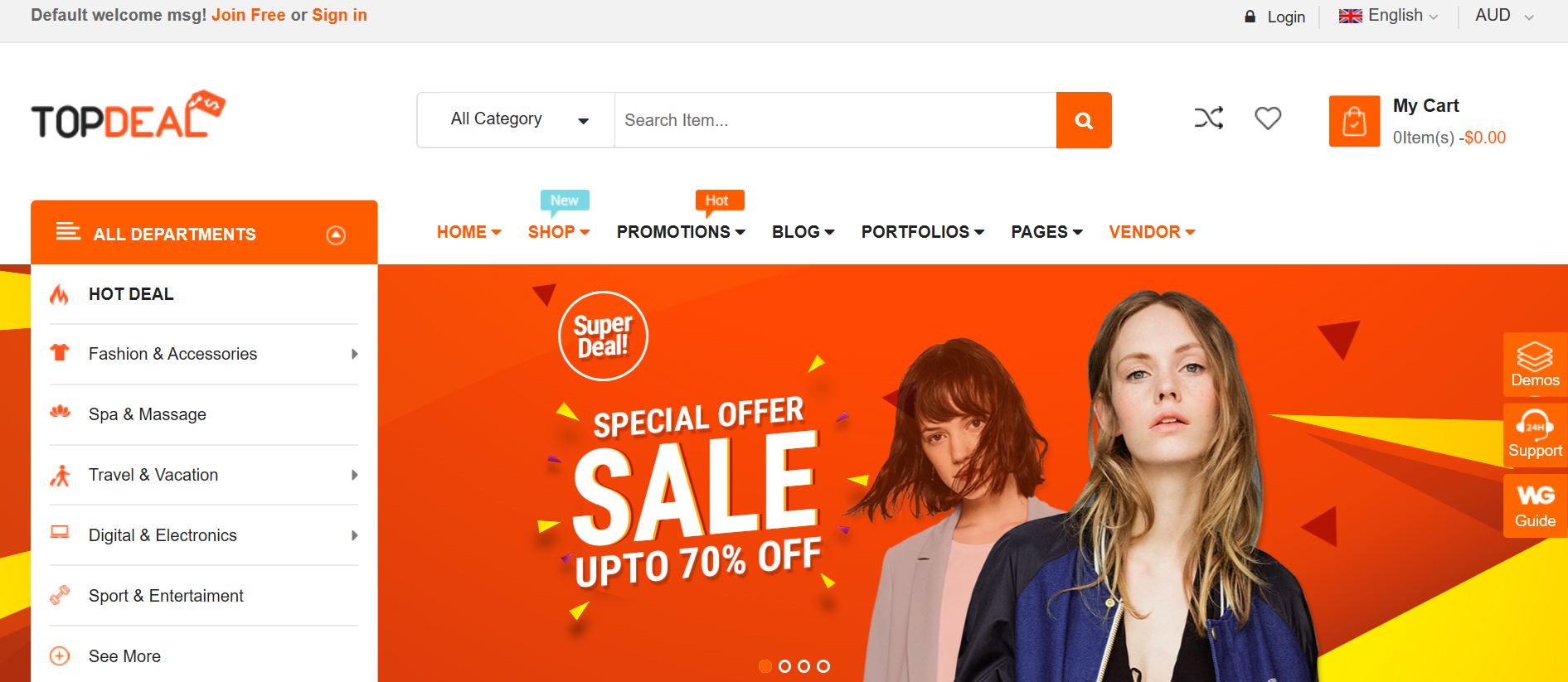 TopDeal theme
