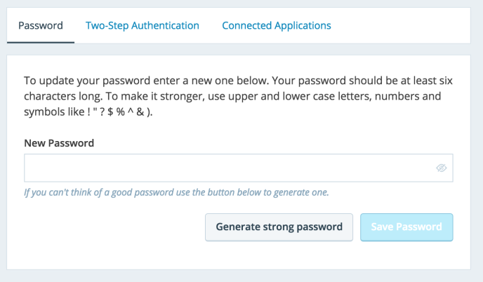 how to change your account password