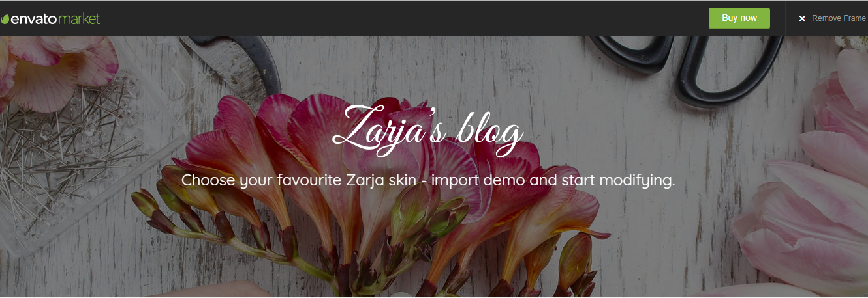 Zarja Blog theme