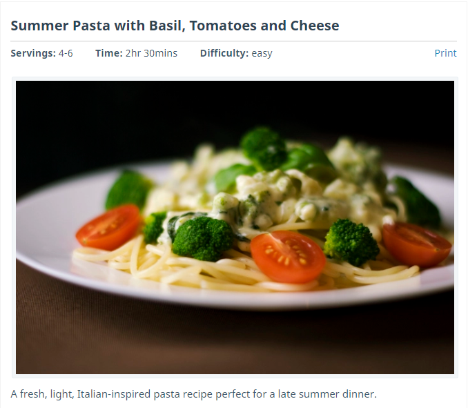 how to embed a Recipe on your site