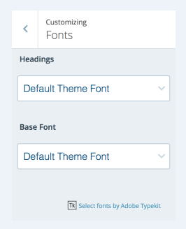 how to change your site fonts