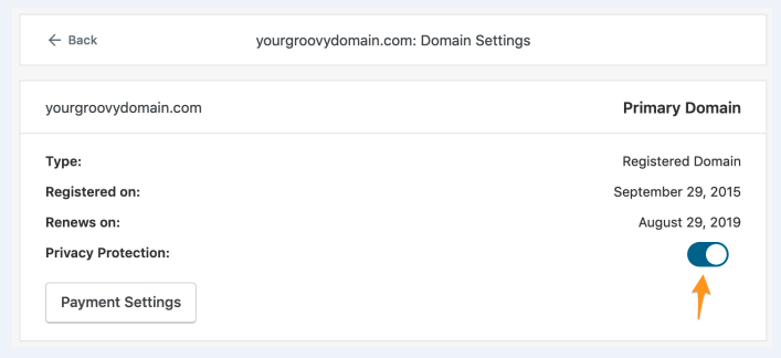 how to update contact information for a domain