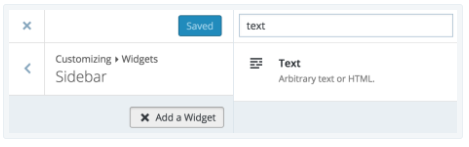 insert text widget to your sidebar
