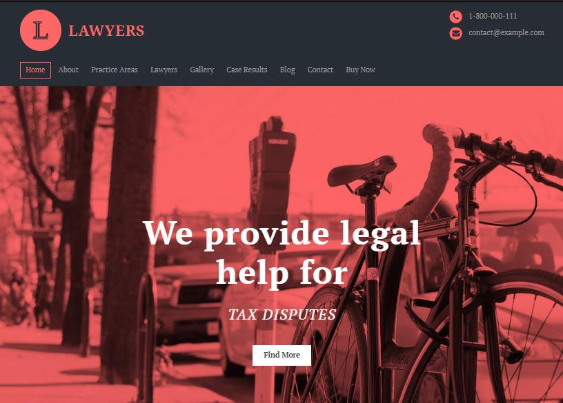 Lawyer theme