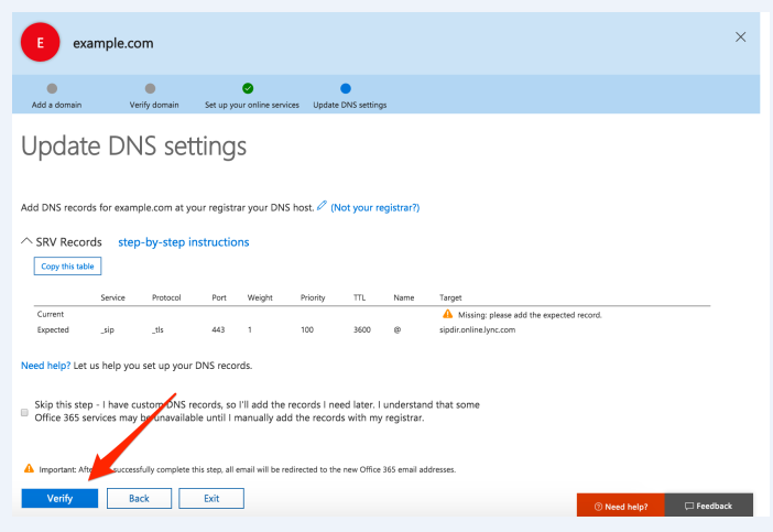How to add an email through Office 365