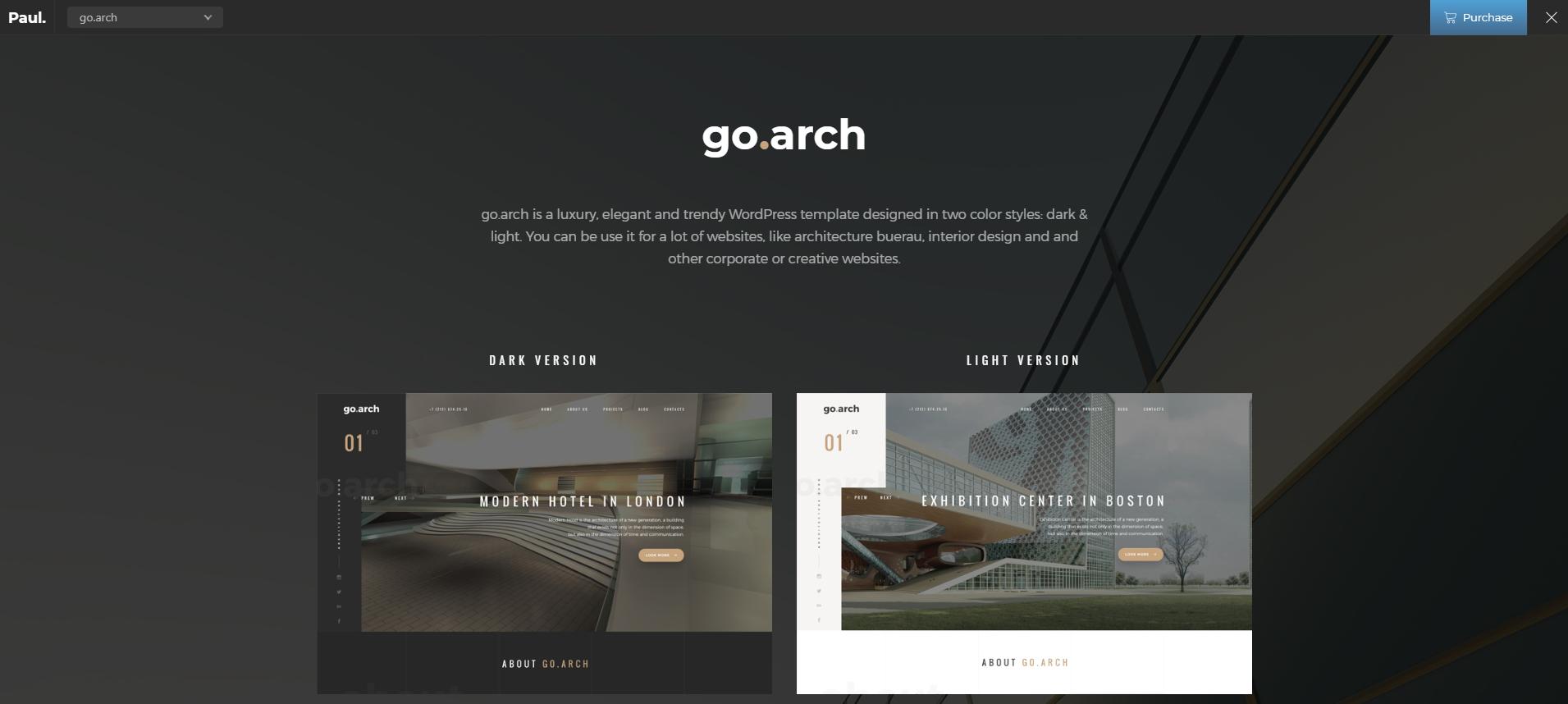 go.arch theme