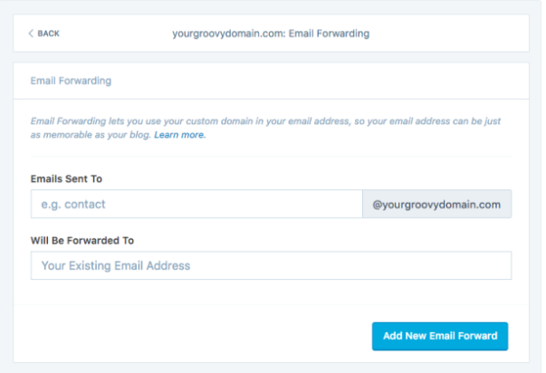 activate email forwarding