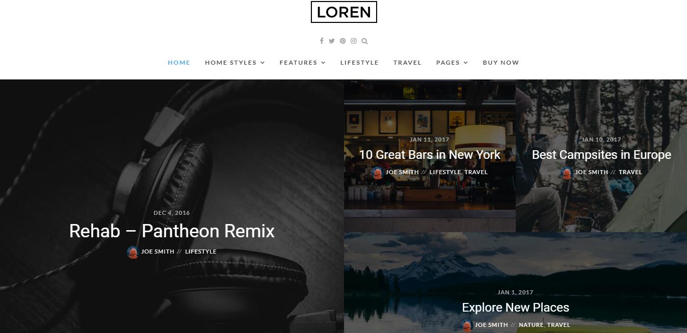 Loren theme